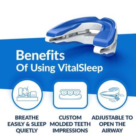 VitalSleep anti snoring mouthpiece mouthguard appliance