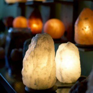 So Well White Himalayan Salt Lamp Natural Cut crystal