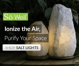 SoWell White Himalayan Salt Lamp Natural Cut