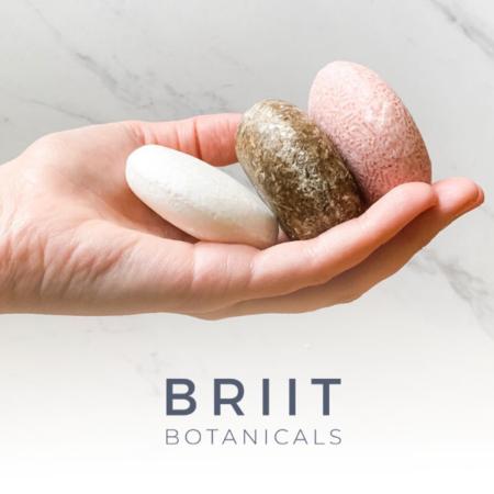 Briit Botanicals Citrus Lavender Shampoo & Conditioner Bar Set